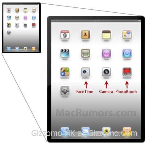 iPad 2 搭載鏡頭