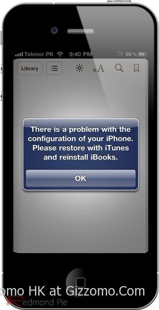 修復使用 Green Pois0n 破解 iOS 4.2.1 後無法正常使用 iBooks 的方法