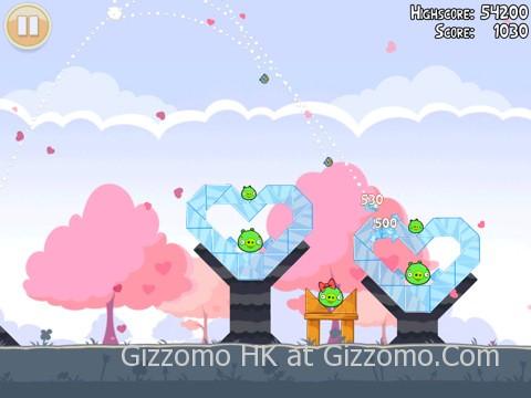 甜蜜溫馨的 Angry Birds 情人節版本開放下載