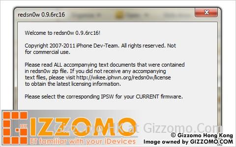 iOS 4.3.3 完美破解教學經已發佈 ‧ 使用 Redsn0w 0.9.6 RC16