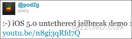 iOS 5 完美破解 (Untethered Jailbreak) 示範影片